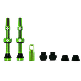 Muc-Off MTB & Road Tubeless Valve Kit 60mm, green